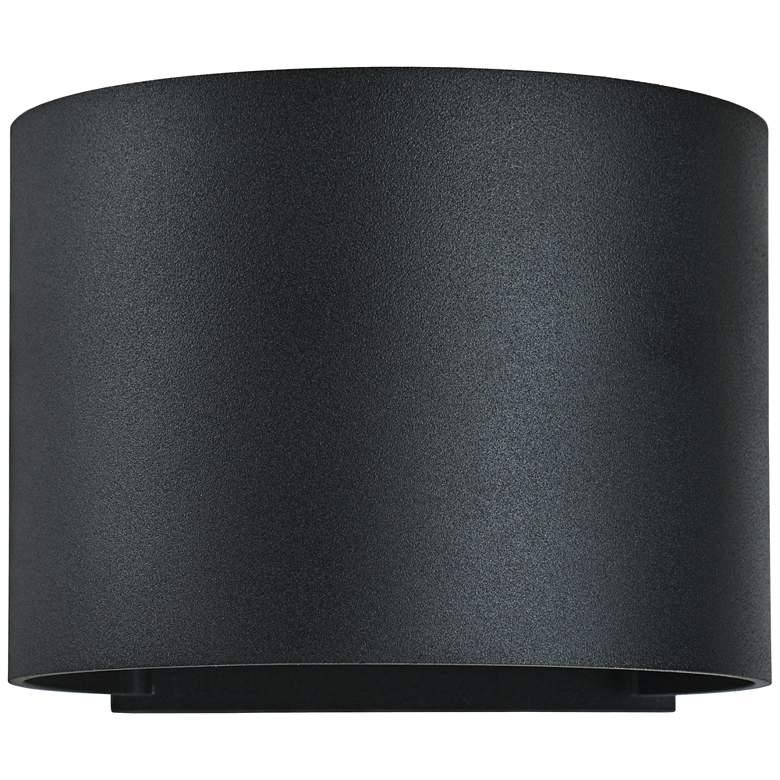 "Curve 4 1/2"" High Black 2-Light LED Outdoor Wall Light"
