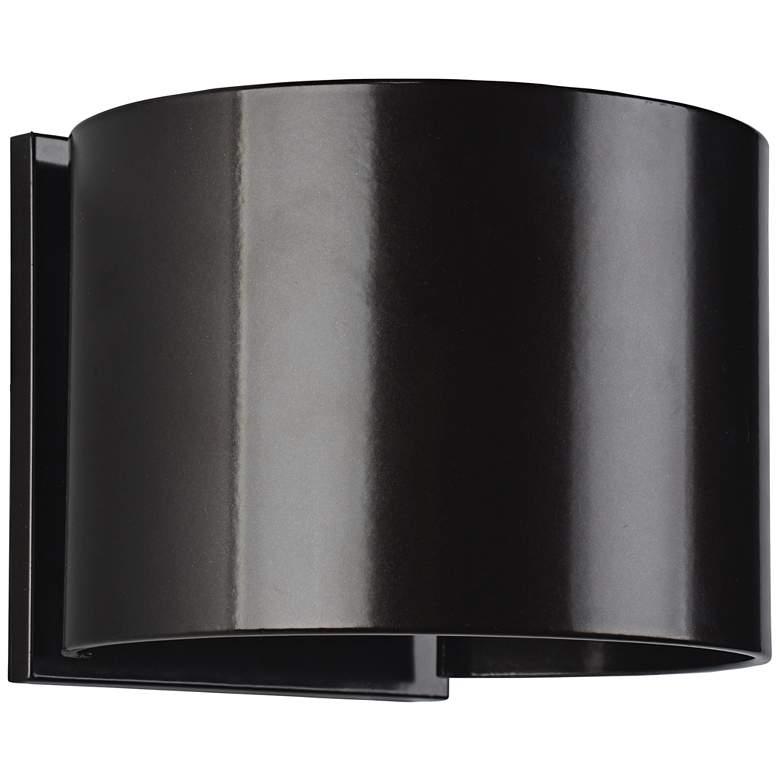 """Curve 4 1/2"""" High Bronze 2-Light LED Outdoor Wall Light"""
