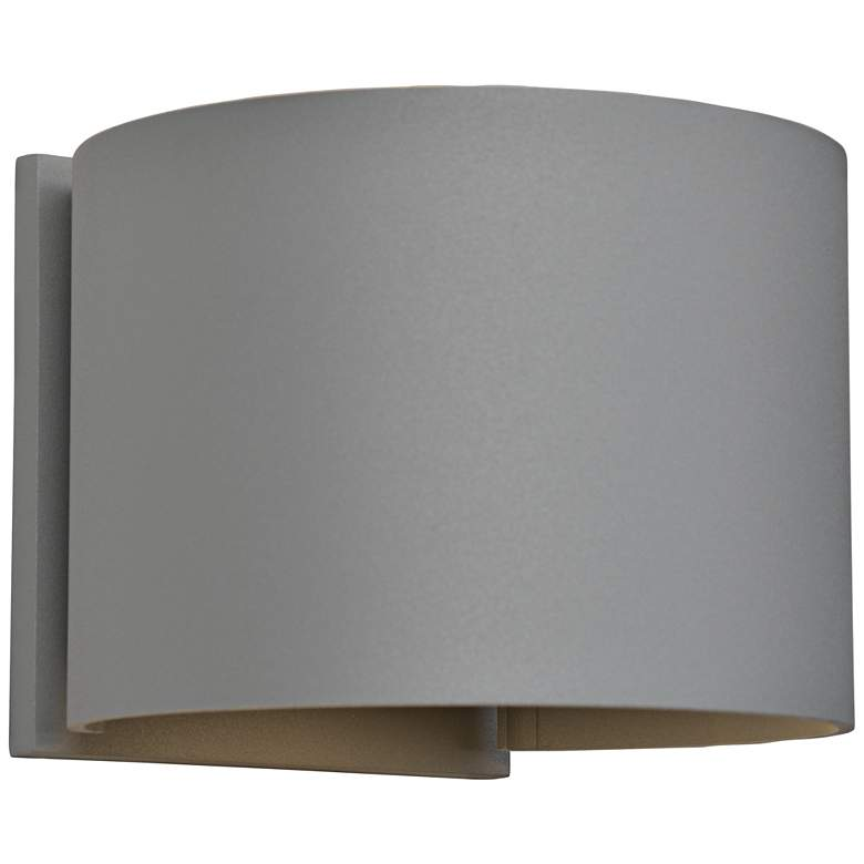 "Curve 4 1/2"" High Satin 2-Light LED Outdoor"