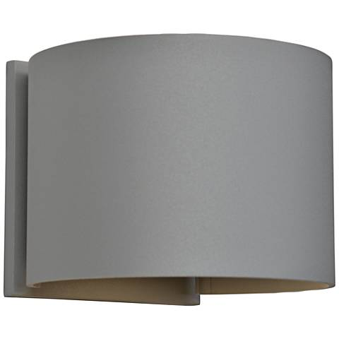 "Curve 4 1/2"" High Satin 2-Light LED Outdoor Wall Light"