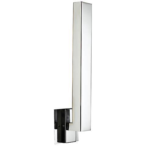 """Teton 18"""" High Polished Chrome 5-LED Outdoor Wall Light"""