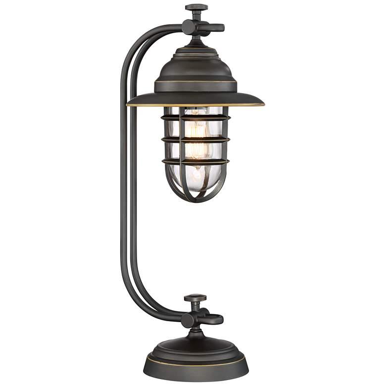 Franklin Iron Works Knox Oil-Rubbed Bronze Lantern Desk