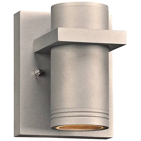 "Boardwalk-I 5 1/2"" High Silver LED Outdoor Wall Light"