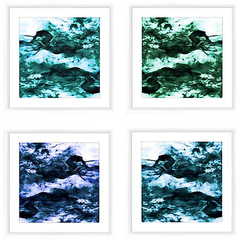 "Smoking Blues 22"" Square 4-Piece Framed Wall Art Set"
