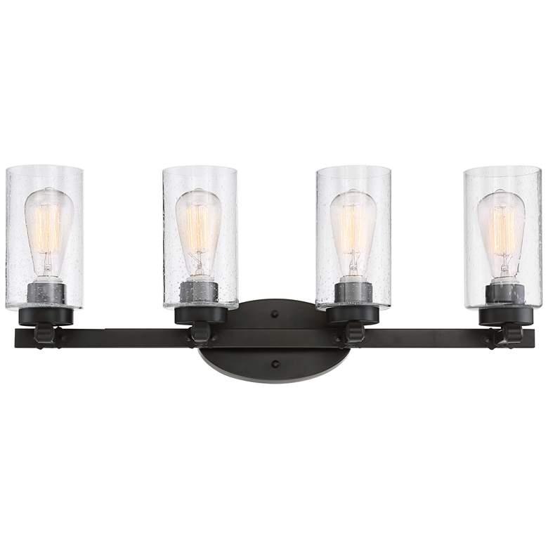 """Holman 27 1/4"""" Wide Industrial Bronze 4-Light Vanity Light"""