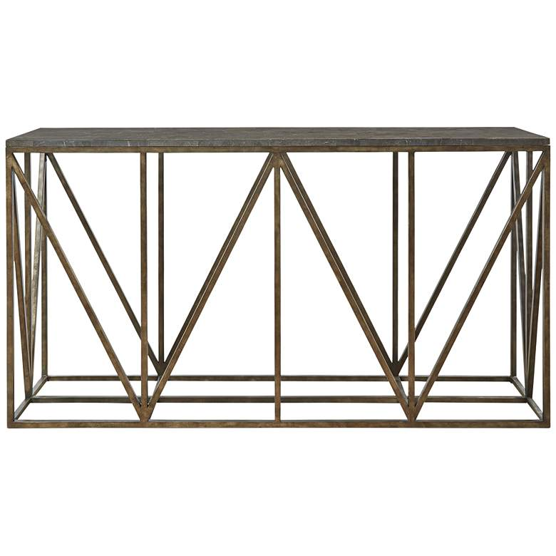 "Bluestone 68"" Wide Glass Top Console Table"