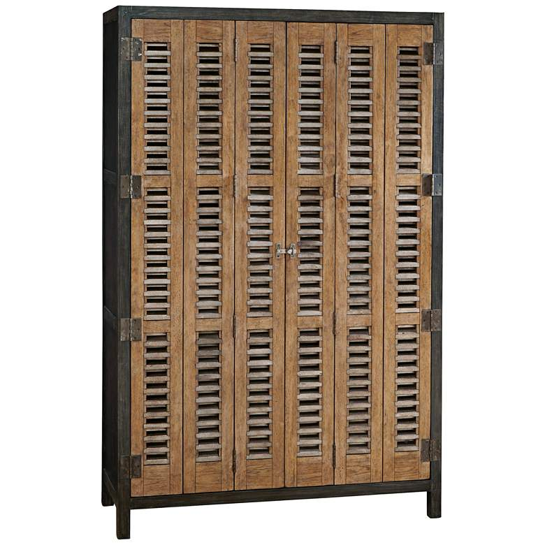 "Moderne Muse 49"" Wide Libations Bottle and Wine Cabinet"