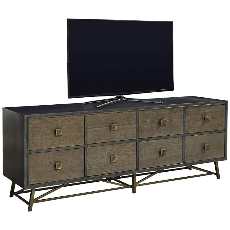 """Playlist After Midnight 78"""" Wide Media TV Console"""