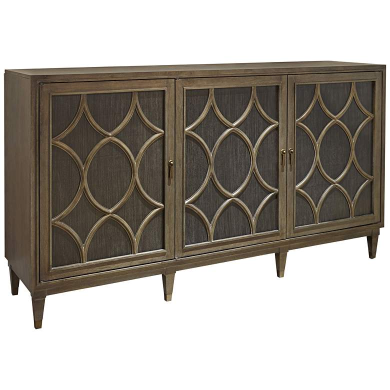 "Playlist 76"" Wide Brown Eyed Girl Finish 3-Door Sideboard"