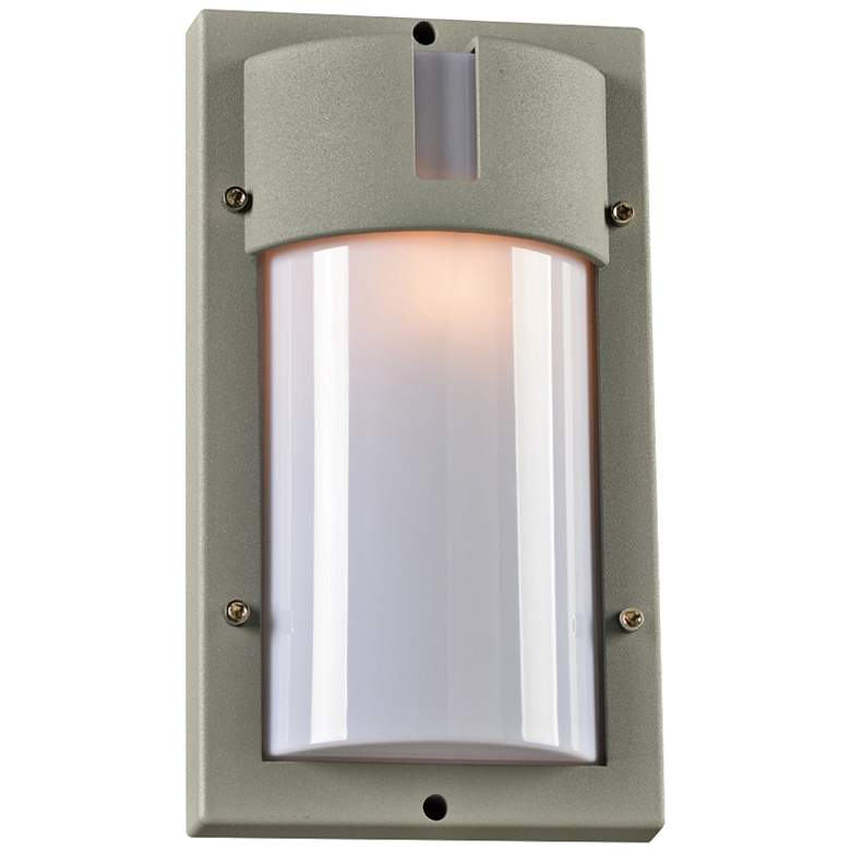 """Jedi 12 1/2"""" High Tall Silver Outdoor Wall"""