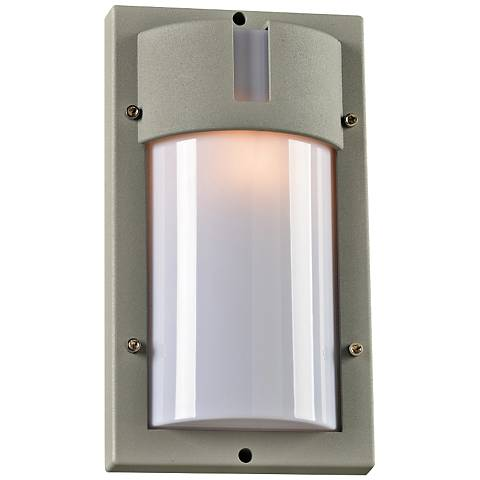 "Jedi 12 1/2"" High Tall Silver Outdoor Wall Light"