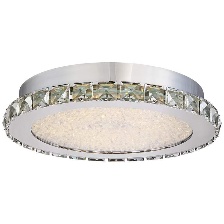 "Possini Euro Chardin 14"" Wide Chrome LED Ceiling Light"