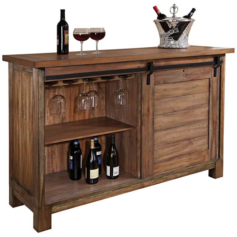 "Homestead 52"" Wide Barn Door Wine and Bar"