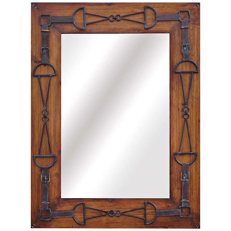 "Bella Metal And Wood 24"" x 32"" Decorative Wall Mirror"