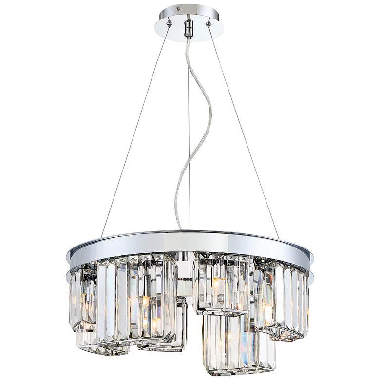 "Eurofase Lumino 18 3/4""W Chrome 8-Light Crystal Chandelier"