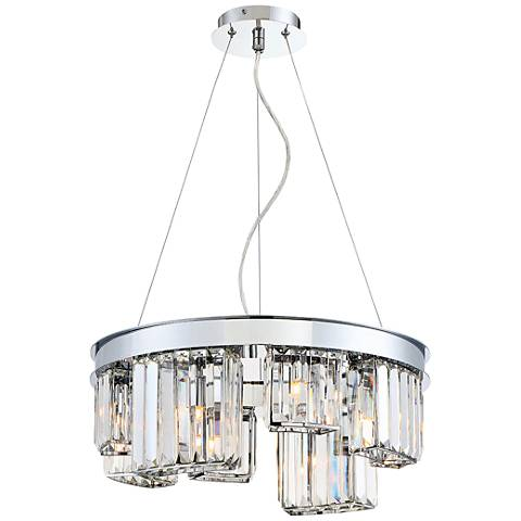 "Eurofase Lumino 18 3/4""W Chrome 8-Light Crystal Chandelier"