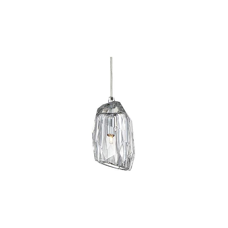 "Eurofase Diffi 4"" Wide Chrome and Glass Mini Pendant"