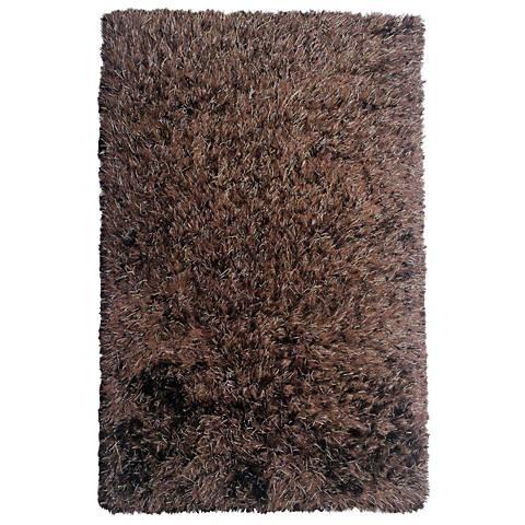 Chandra Onex Brown Shag Area Rug