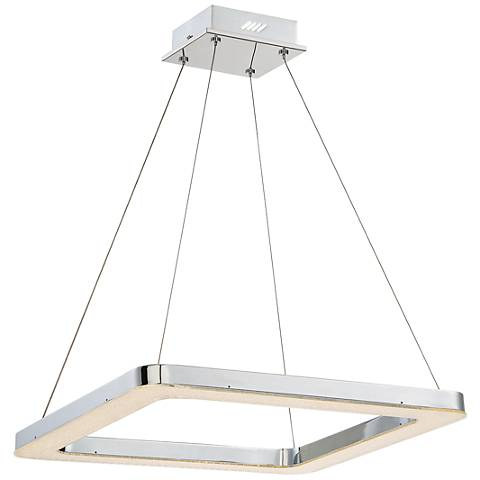 "Eurofase Zatina 19 3/4"" Wide Chrome LED Pendant Light"