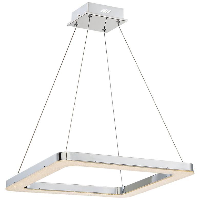 "Eurofase Zatina 19 3/4"" Wide Chrome LED Pendant Light"