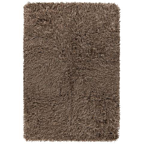 Chandra Onex Camel Brown Shag Area Rug