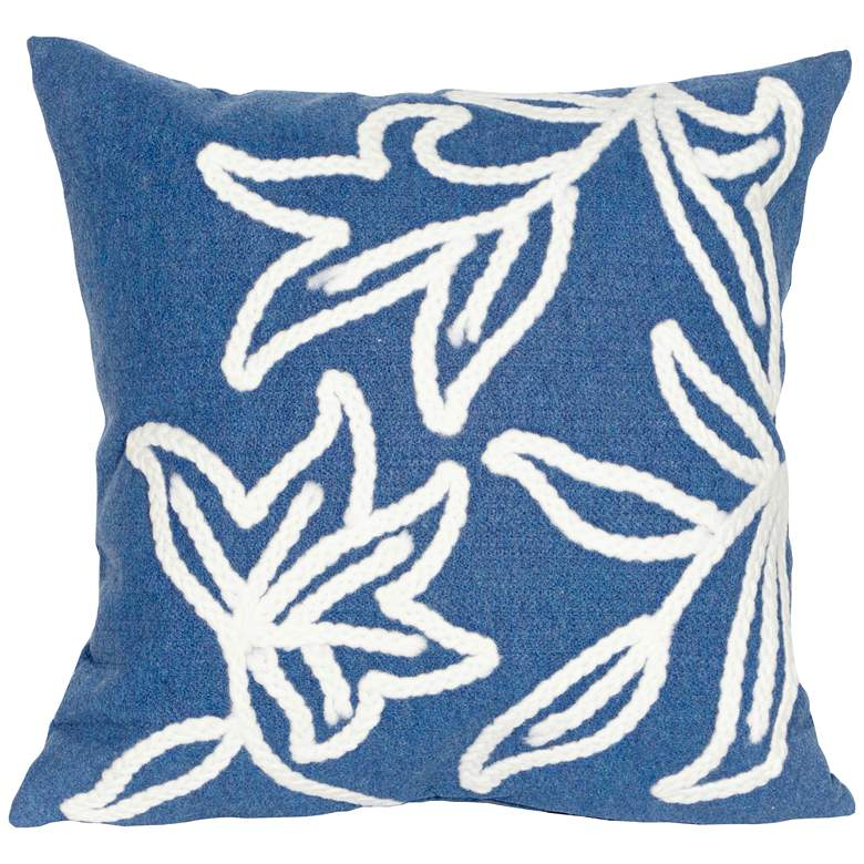 """Visions I Windsor Blue 20"""" Square Indoor-Outdoor Pillow"""