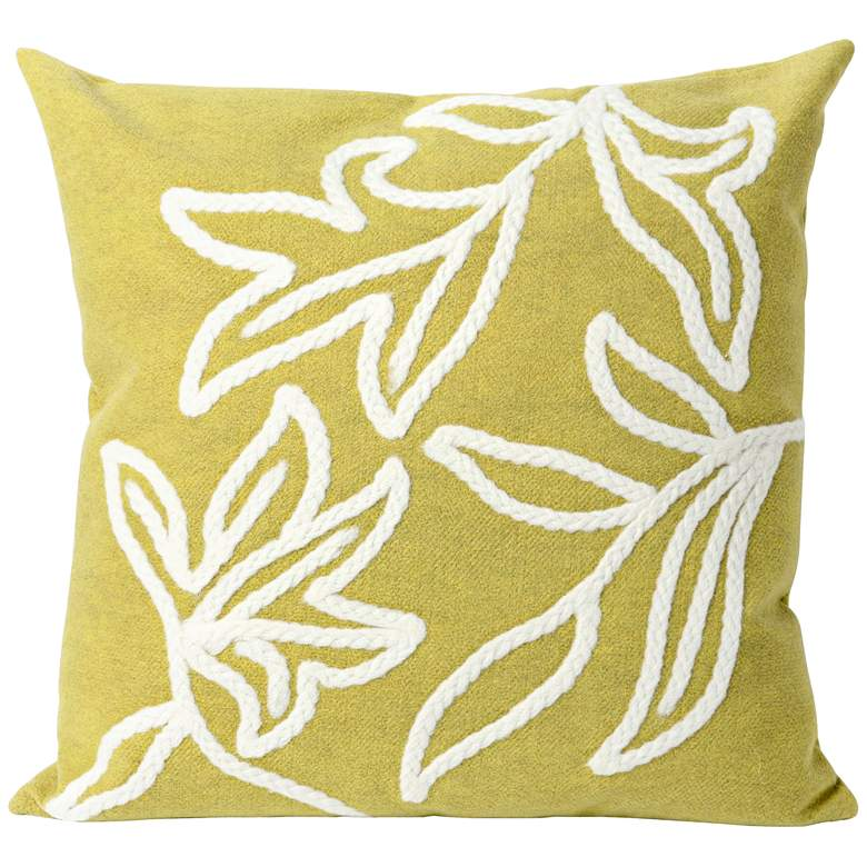 """Visions I Windsor Lime 20"""" Throw Indoor-Outdoor Pillow"""