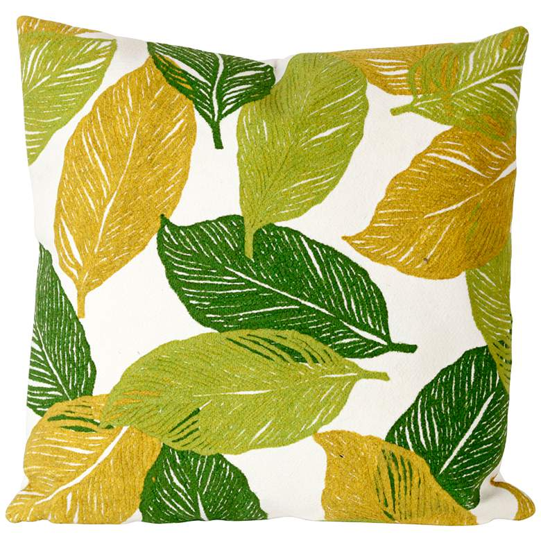 "Visions I Mystic Leaf Green 20"" Square Indoor-Outdoor"