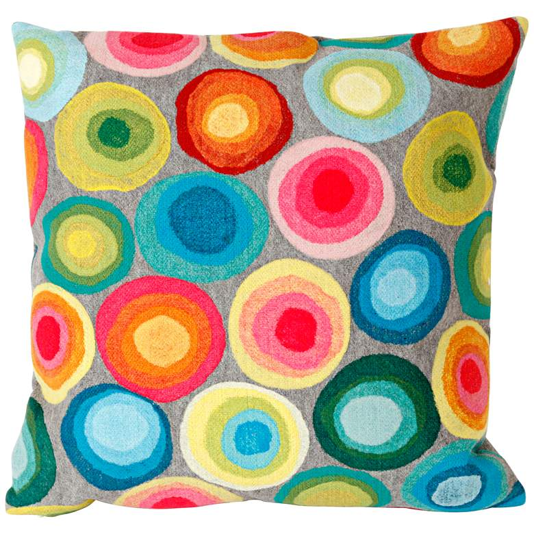 """Visions II Puddle Dot  20"""" Square Indoor-Outdoor Pillow"""