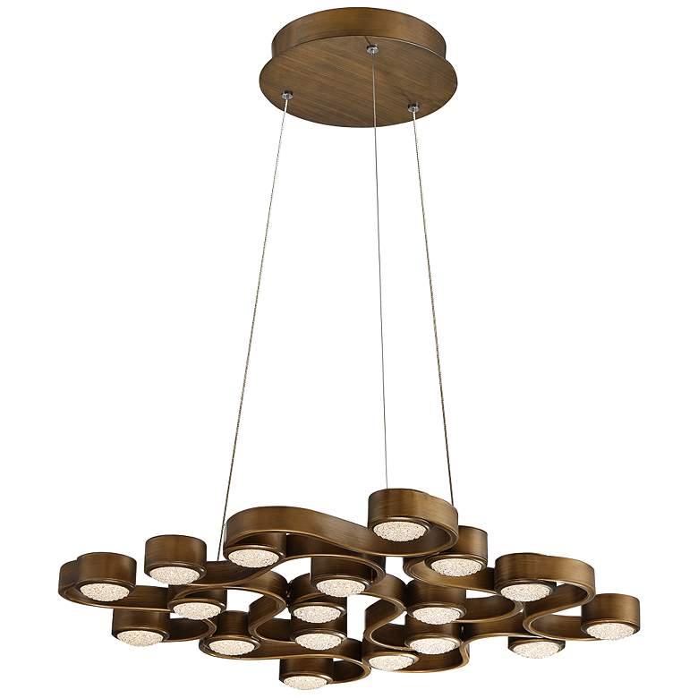 "Eurofase Pallazo 24"" Wide Bronze 18-LED Chandelier"