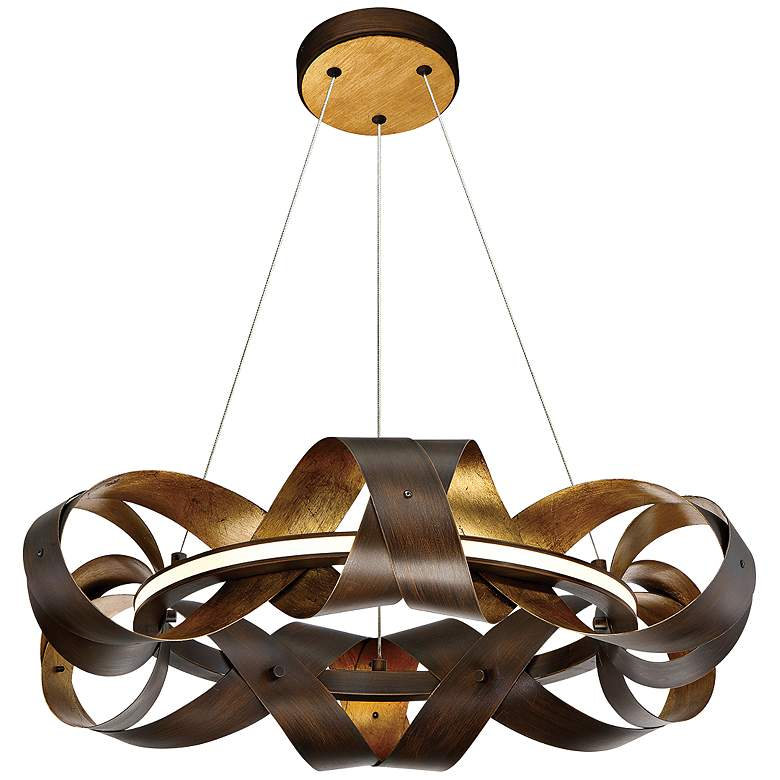 "Eurofase Banderia 22 1/2"" Wide Bronze LED Chandelier"