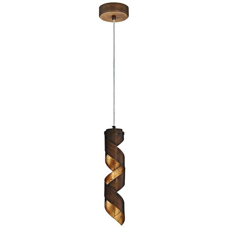 "Eurofase Banderia 3 1/2"" Wide Bronze LED Mini Pendant"