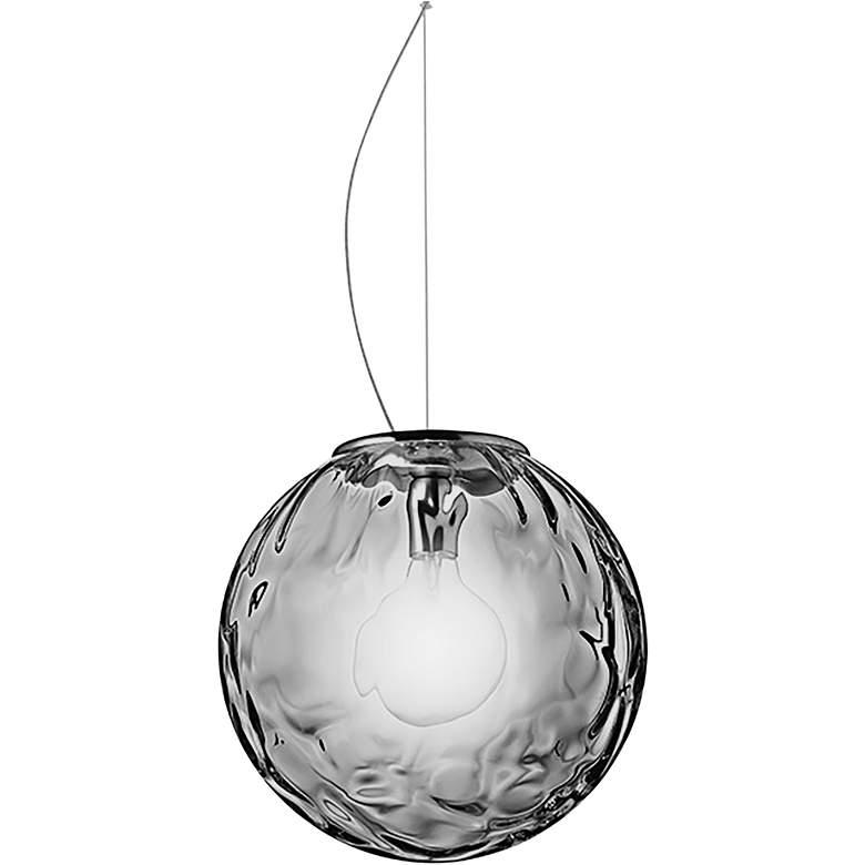 "Eurofase Borgo 17 3/4""W Chrome and Smoke Glass Pendant Light"