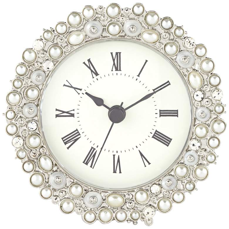 "Avanton Pearl 4 1/4"" Wide Table Clock"