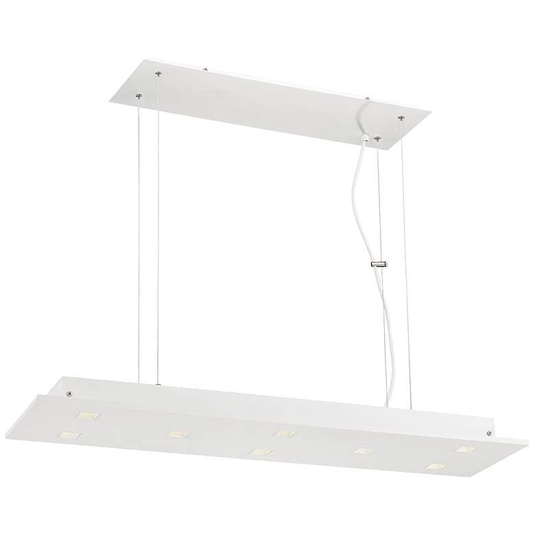 "Kano 35"" Wide Aluminum 8-LED Kitchen Island Light Pendant"