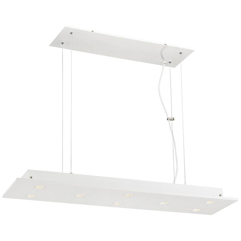"Eurofase Kano 35"" Wide Aluminum 8-LED Island Pendant"