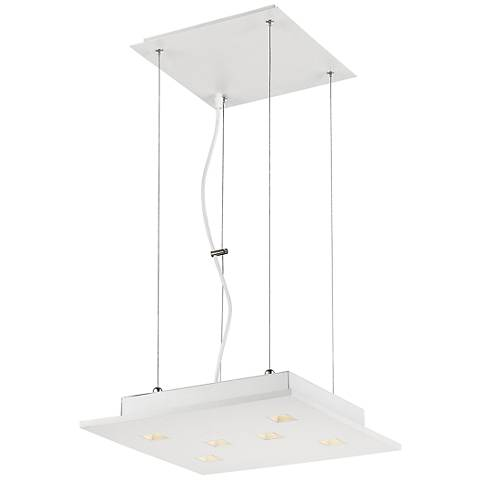 "Eurofase Kano 14 1/2"" Wide White 6-LED Pendant Light"