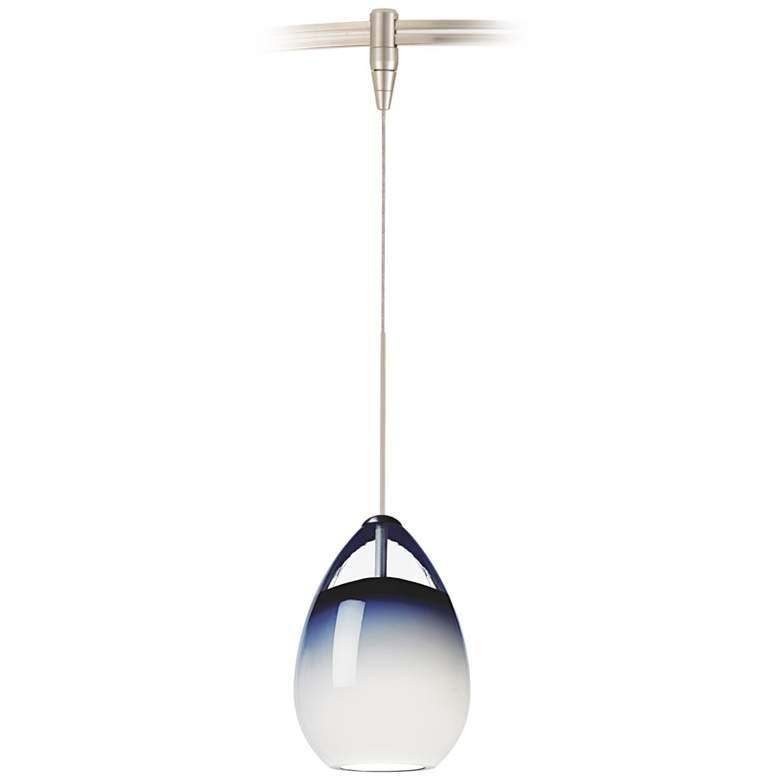 "Alina 4"" Wide Satin Nickel LED Monorail Mini Pendant Light"