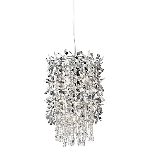 "Elan Alexa 18"" Wide Chrome 9-Light Halogen Foyer Pendant"