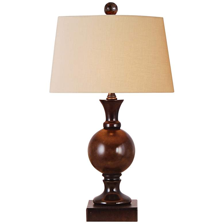 "Jade Sphere 18"" High Small Bronze Table Lamp"