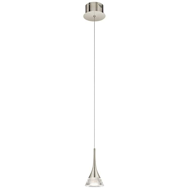 """Elan Kabru 4 3/4""""W LED Brushed Nickel Mini Pendant Light"""