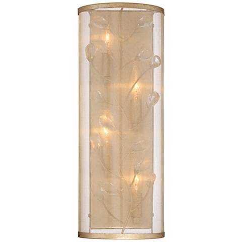 """Sara's Jewel 18"""" High Champagne Silver 4-Light Wall Sconce"""