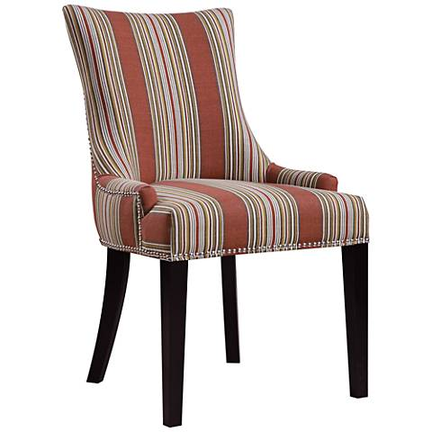 Oberon Bourbon Imperial Sienna Striped Dining Chair