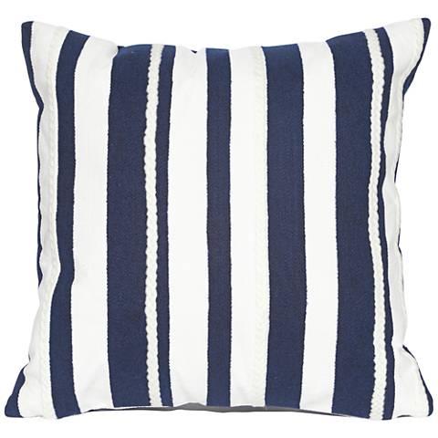 """Visions II Marina Stripe Marine 20"""" Indoor-Outdoor Pillow"""