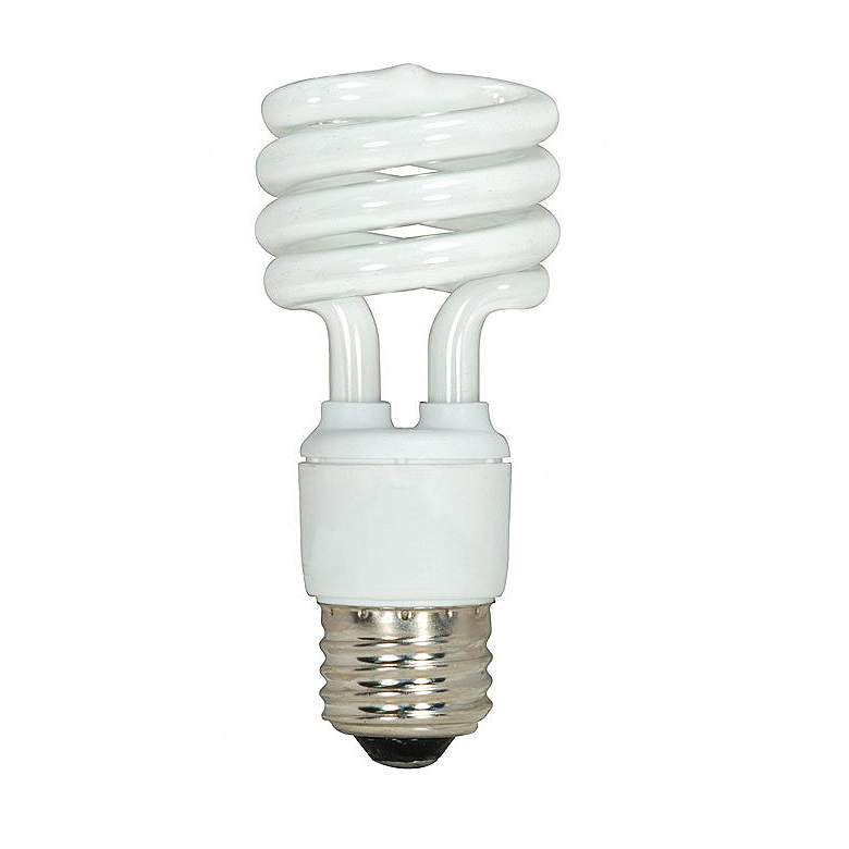 13 Watt Mini Spiral T2 Medium Base CFL