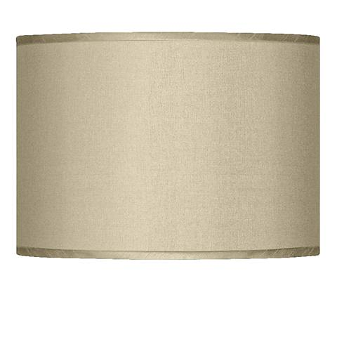 Sesame Faux Silk Drum Shade 13.5X13.5X10 (Spider)