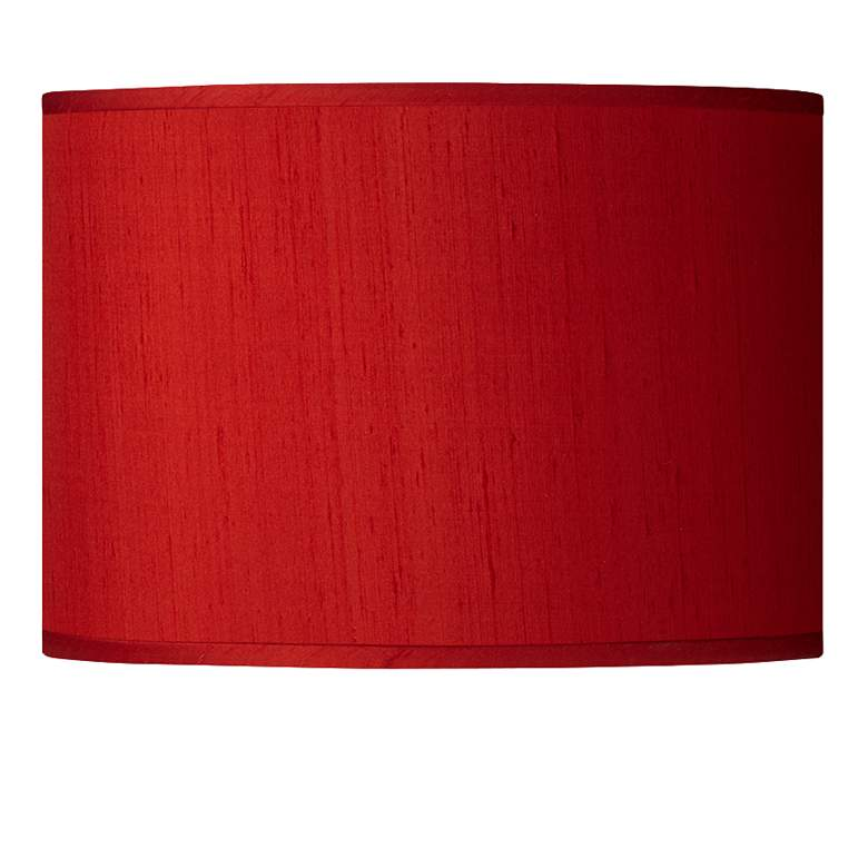 Red Faux Silk Dupioni Shade 13.5X13.5X10 (Spider)