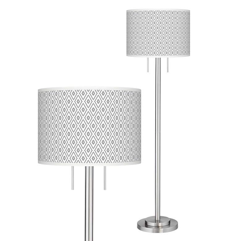 Diamonds Giclee Brushed Nickel Garth Floor Lamp