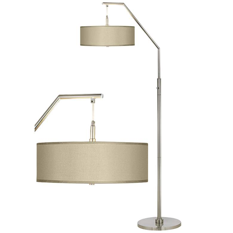Sesame Polyester Arc Floor Lamp