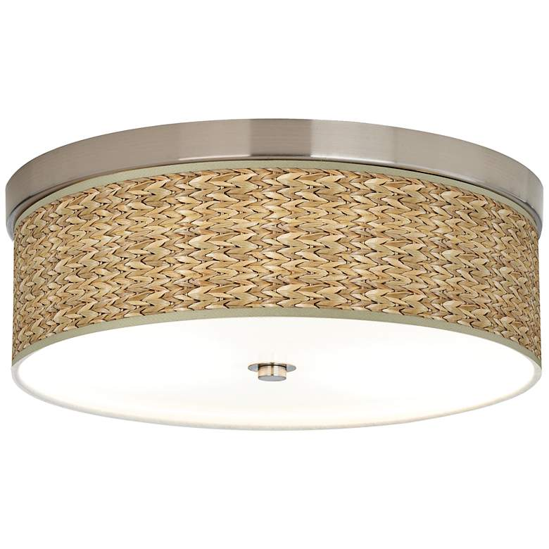 Seagrass Print Pattern Giclee Energy Efficient Ceiling Light